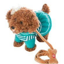 Electronic Plush Toy Dog Remote Control Machinery Pet-Green/Sea