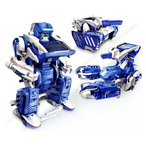 Educational Assembly Solar Power Robot Construction Kit Mechanical Powered Xmas[3 in 1 Robot]