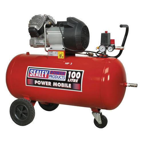 Sealey SAC10030 100ltr V-Twin Direct Drive Compressor 3hp