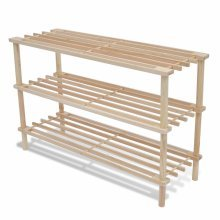 Wooden Shoe Rack 3-Tier Shoe Shelf Storage 2 pcs