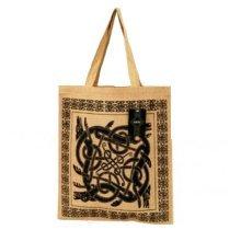 Celtic Design Jute Shopping Bag Shopper Reusable Natural Souvenir Gift Pagan