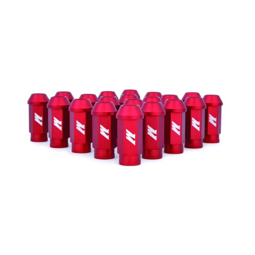 Mishimoto MMLG-15-LOCKRD  Aluminium Locking Lug Nuts, M12 x 1.5, Red
