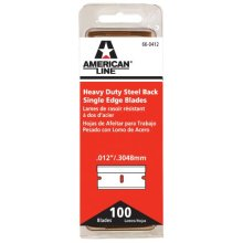 American Safety Razor 66-0412 Heavy-Duty Single Edge Razor Blades, 100-Pack