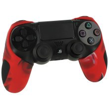 Silicone PS4 Controller Case Camo Red | Sony PS4 Controller Rubber Cover