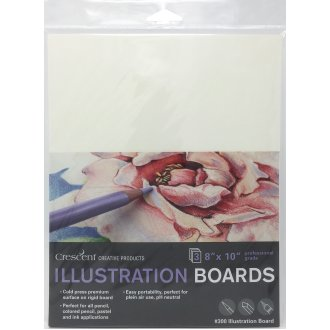 "Crescent Illustration Board 3/Pkg-8""X10"" White"