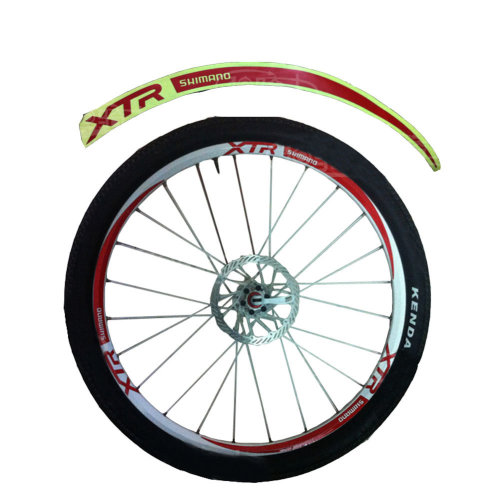 [RED]Unique Colour XTR 12 Pics Reflective Bike Rim Sticker Wheel Decal Sticker