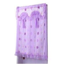 Purple Maple Leaves Pattern Lace 90x120 cm Door Curtain