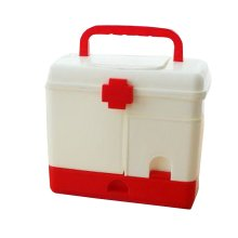 Useful Family Medicine Chest Multifunctional Big FIRST Aid Case Red 7.8''