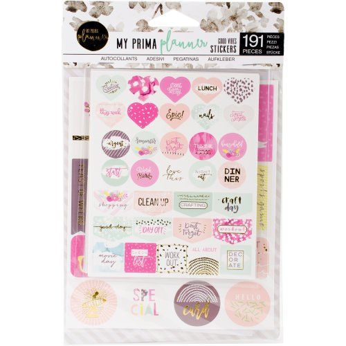 My Prima Planner Stickers 5/Pkg-Good Vibes