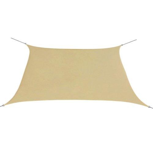vidaXL Sunshade Sail Oxford Fabric Square 2x2 m Beige