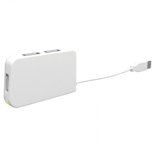 Approx (APPHT4W) External 4-Port USB 2.0 Travel Hub, LED, White