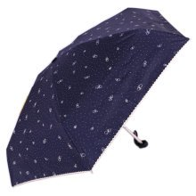 Mini Creative Umbrella Incredible Light Folding Sun Resisting Blue Umbrella