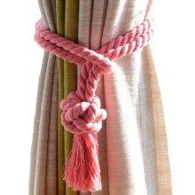 Curtain Ties Cotton Rope Curtain Tassel Curtain Accessories- 2 Pieces Tiebacks