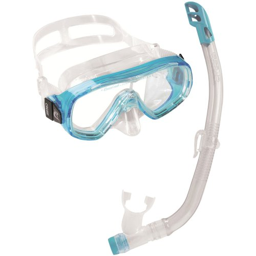 Cressi Kid's Ondina VIP Snorkelling Combo Set - Clear/Aquamarine