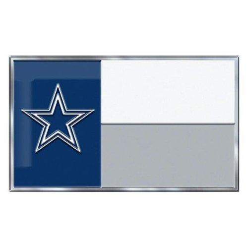 Team ProMark 84803 4 x 6 in. Dallas Cowboys Ambassador Car Flag, Set of 2