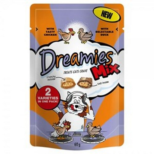 Dreamies Mix Chicken And Duck Cat Treats (8 Packs)