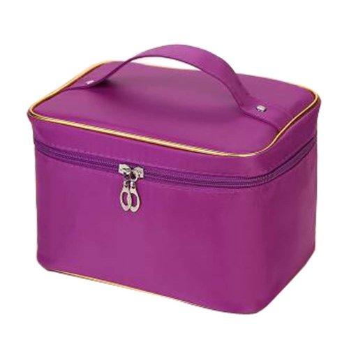 Household Essentials Grooming Travel Cosmetic Bag Unique Makeup Organizer Purple