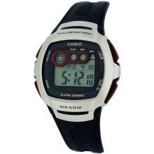 CASIO Gents Digital Backlight Sports Resin Buckle Strap Watch W-210-1DVES