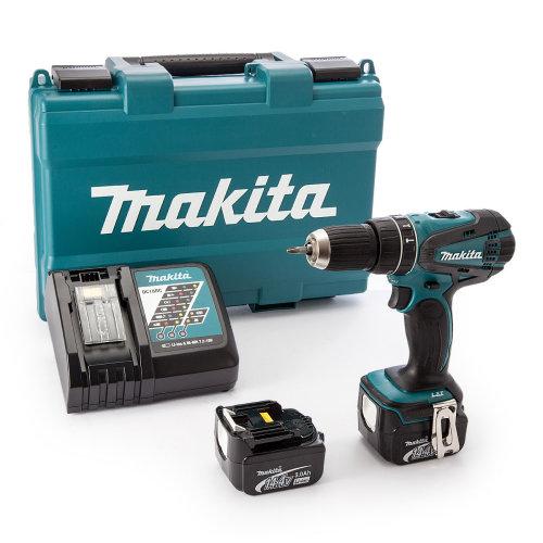 Makita DHP446RFE 14.4V Li-ion LXT Combi Drill W/ 2 x 3.0Ah Batteries
