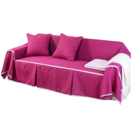 3 Seat Sofa Slipcover Elegant Couch Cover Furniture Protector #18