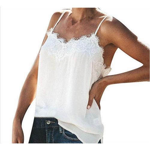 M Code Lace Stitching Chiffon Sling