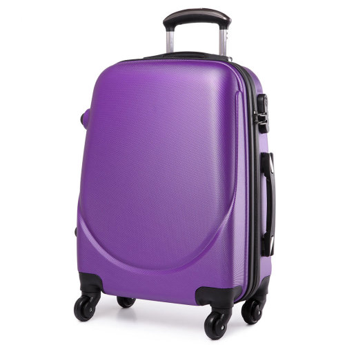 KONO Luggage Suitcase Travel Bag Cabin Trolley Case 4 Wheels Spinner Hard Shell ABS 20 Inch Purple