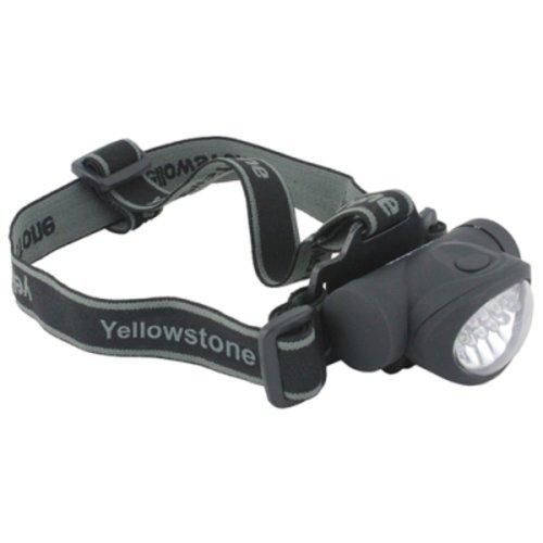 Yellowstone 8 + 2 LED Mini Head Torch (Black)