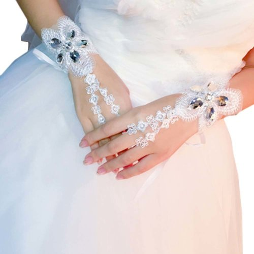 Bridal Wedding Gloves Party Dress Lace Short Gloves B01