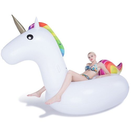 Inflatable Giant Unicorn Pool Float Beach Holiday Swimming Water Beach