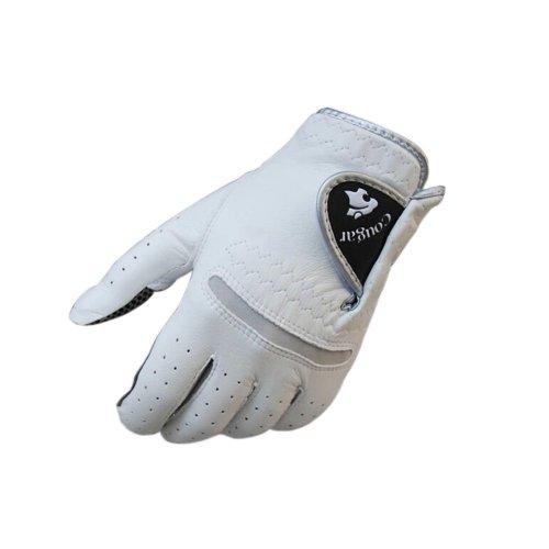 Non-slip Men & Women Golf Gloves Synthetic Leather WHITE Left Hand 25#