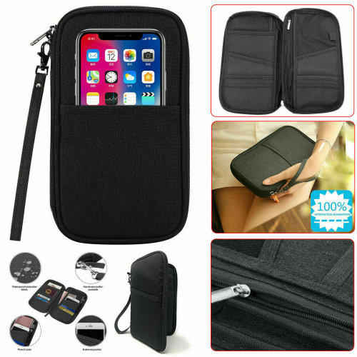 Passport Holder Case Cover Wallet Travel Bag Document Security Pouch