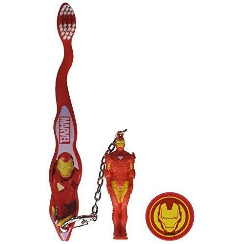 Iron Man Toothbrush - Marvel Iron Man Travel Toothbrush With Mini Figurine And Cap