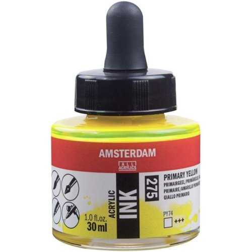 Royal Talens AAI30-02750 Amsterdam Acrylic Ink - Primary Yellow