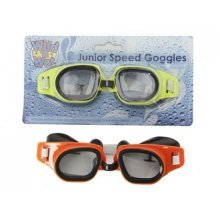 Junior Swim Goggles Dayglo With Nose Clip = New X1 Only -  junior swim goggles dayglo nose clip new x1 only
