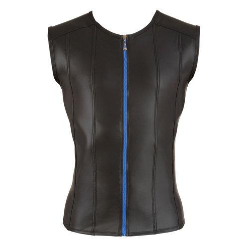 Men's Shirt With Blue Zipper XL Men's Lingerie Shirts - Svenjoyment Underwear