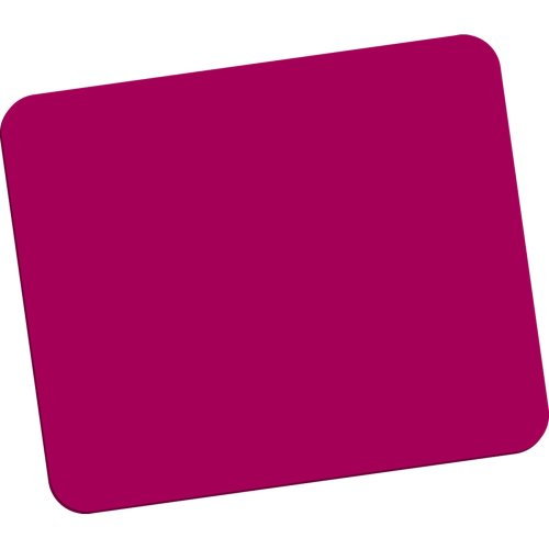 Fellowes Standard Polyester Surface Rectangle Mouse Pad – Red