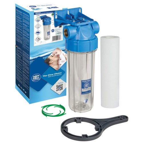 """3/4""""-1"""" Cold Water Filtration In-Line Purify System Housing + Whole Filter Set"""