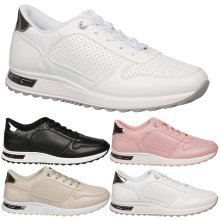 Maxine Womens Flats Low Heel Lace Up Trainers Ladies Fitness Gym Style Shoes New
