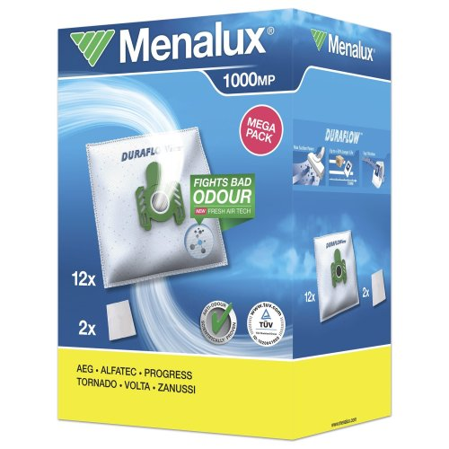 Menalux 1000 MP 12 x Vacuum Cleaner Bags with 2 Micro Filters