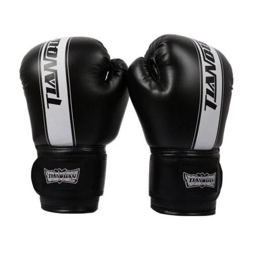 Boxing - Kickboxing Glove Full Finger Gloves -MMA 3 -----Black