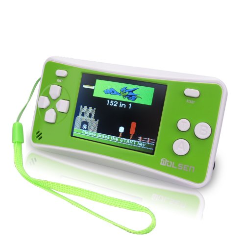 "WOLSEN 2.5"" LCD Portable Game Console Speaker 152 in 1 Games (3 X AAA)(Green)"