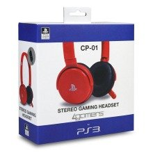 4gamers Cp-01 Stereo Gaming Headset for Playstation 3 Ps3 Red