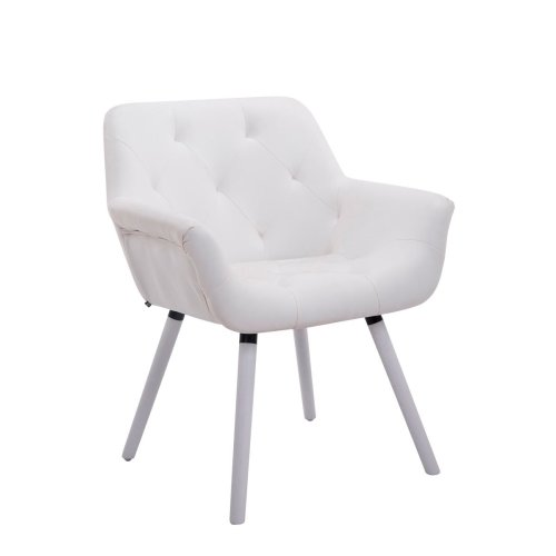 Visitor chair Cassidy leatherette White (oak)