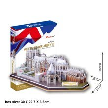 Westminster Abbey 3D Jigsaw Puzzle Scale Model DIY Toy Monument
