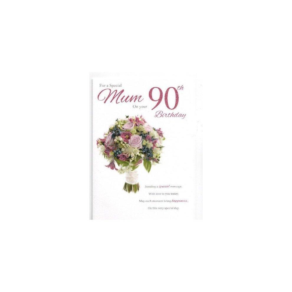 Mum 90th Birthday Birthday Card On OnBuy
