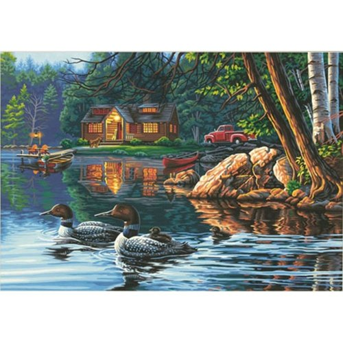 "Dpw91474 - Paintsworks Paint by Numbers 20"" X 14"" - Echo Bay"