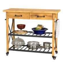 SoBuy® FKW57-N, Industrial Vintage Style Wood Metal Kitchen Storage Trolley
