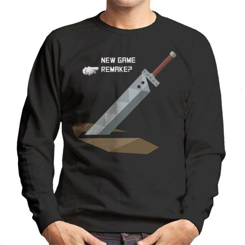 New Game Remake Final Fantasy VII Men's Sweatshirt