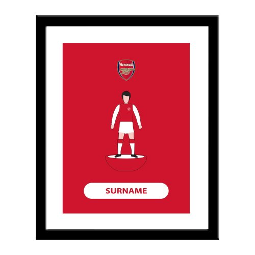 Personalised Arsenal FC Player Figure Print