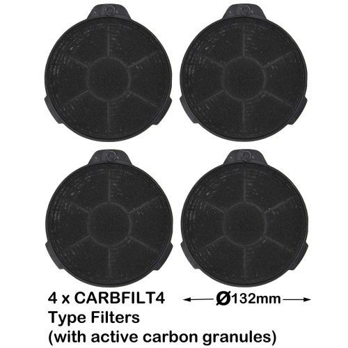 Spares2go Carbon Charcoal Vent Filter For Cooke Lewis
